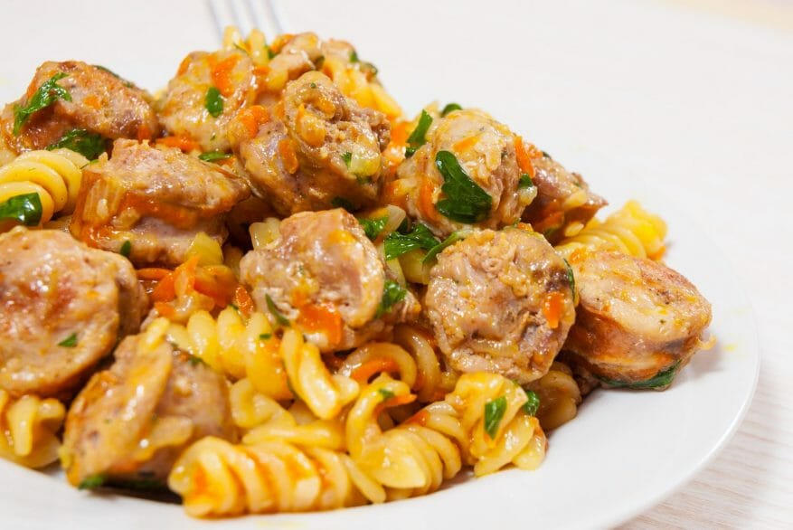 Weight Watchers Italian Sausage and Pepper Pasta