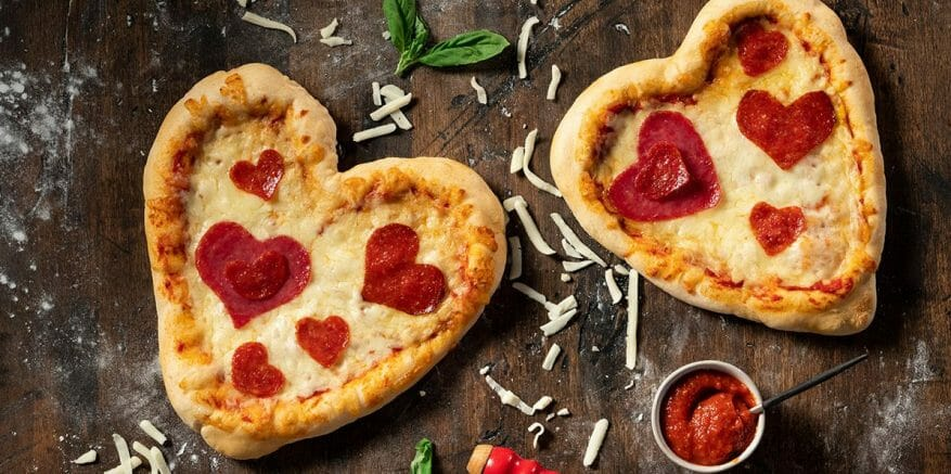 Personal Pan Heart Shaped Pizza